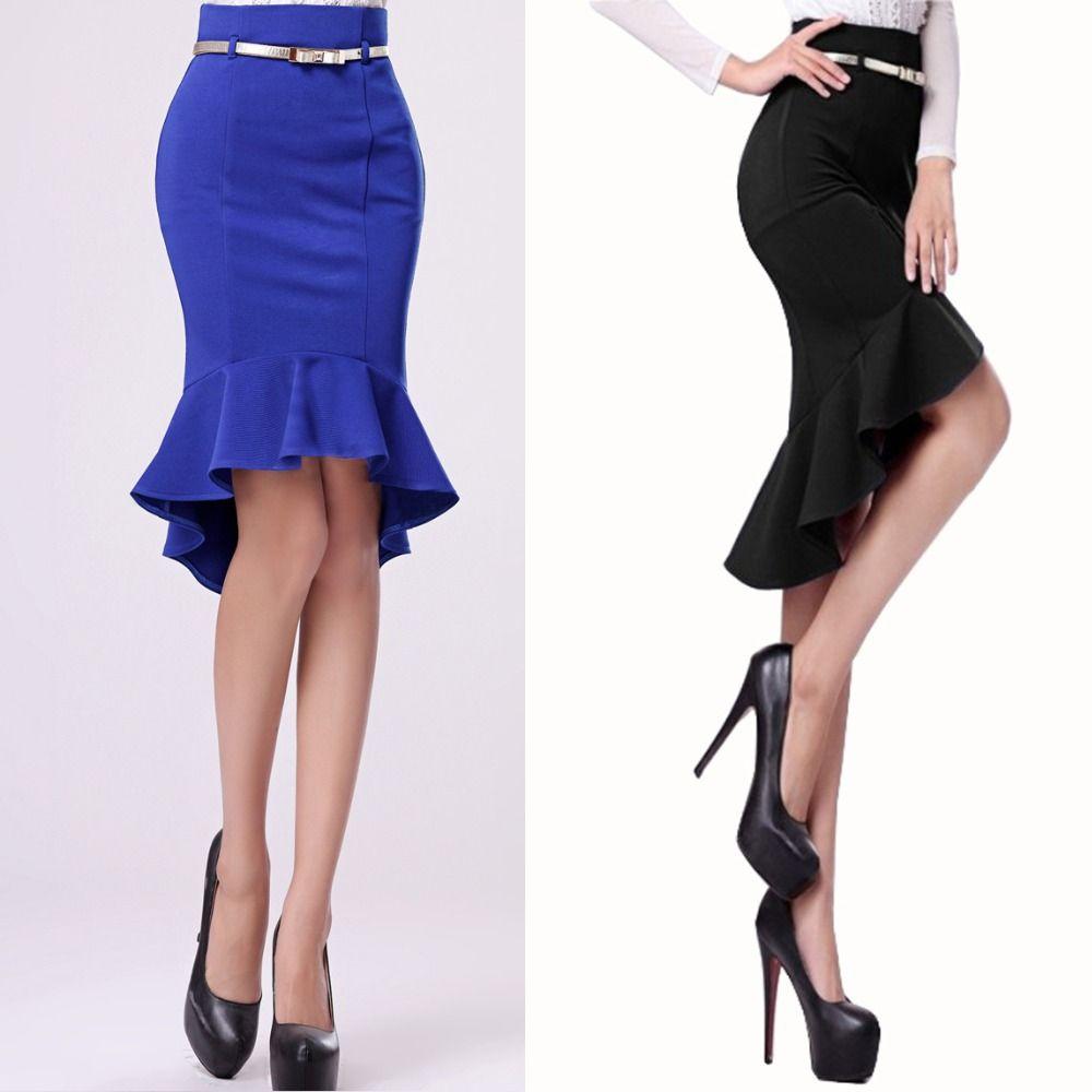 Modelos de falda tipo sirena | Modelos de Falda | Pinterest ...