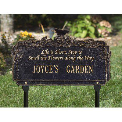 Whitehall Butterfly Poem Garden 1 Line Standard Lawn Plaque