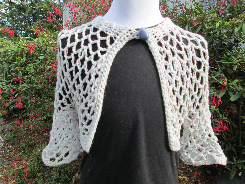 554783a92c6f Baby Girl Gray Bolero Crocheted by SuzannesStitches