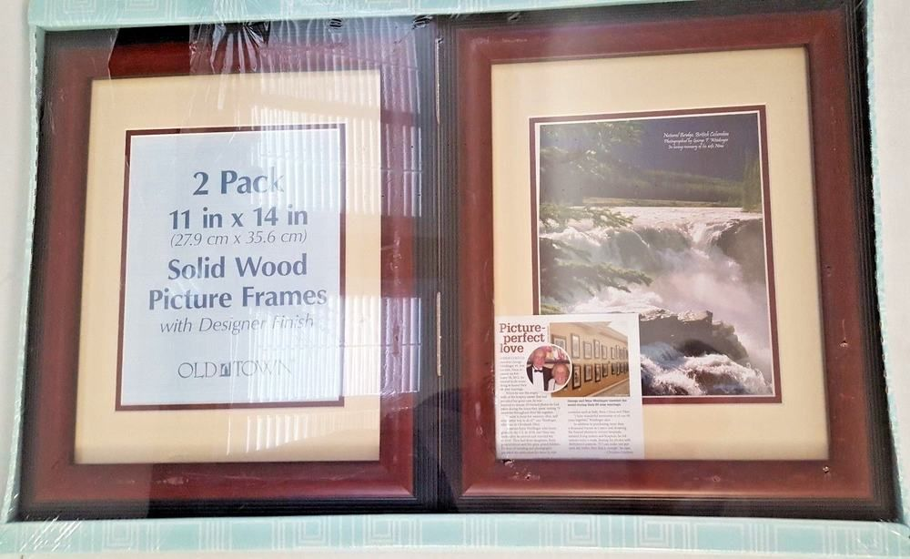 Old Town Picture Frames 2 Pack Solid Wood 11 X 14 W Designer
