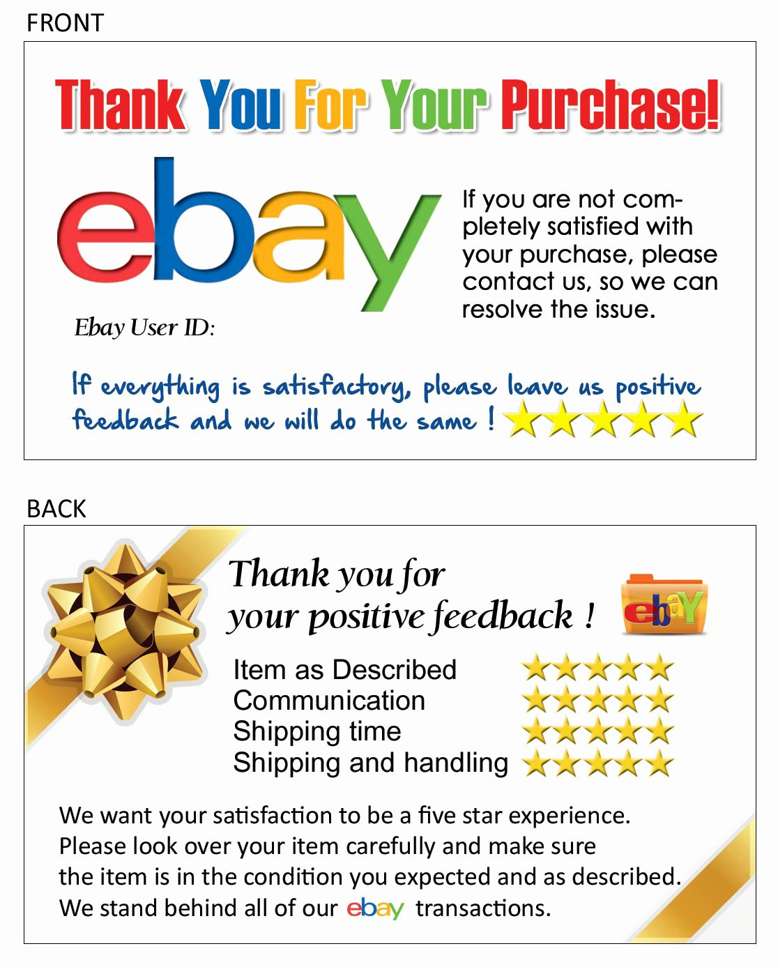 Ebay Thank You Letter Template Examples Letter Template Collection Thank You Note Template Ebay Business Cards Thank You Letter Template