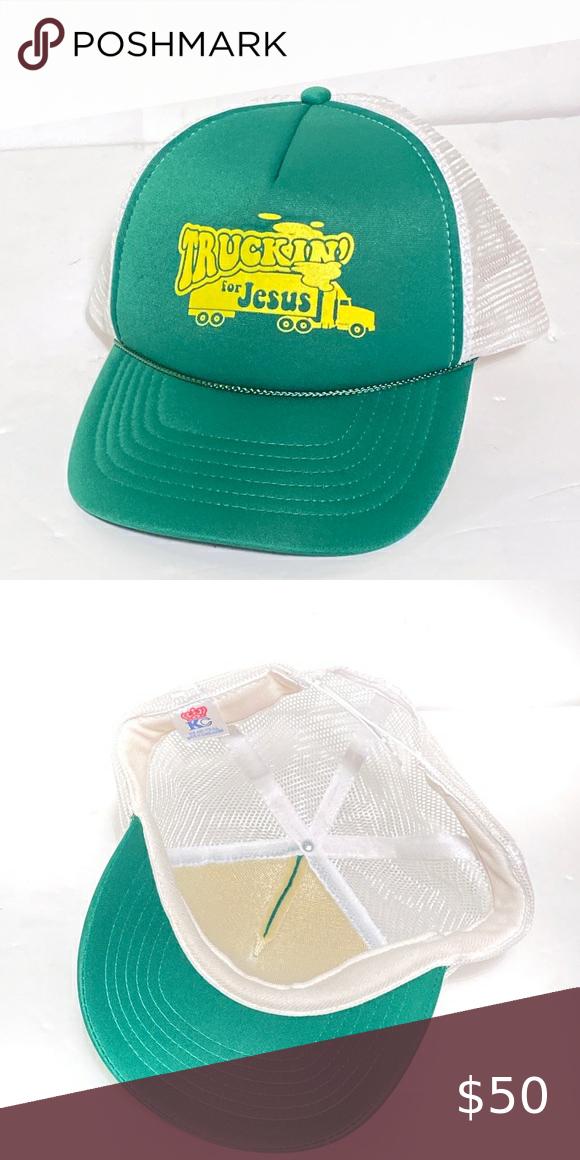 Vintage Truckin For Jesus Trucker Snapback Hat In 2020 Snapback Hats Trucker Hats Vintage