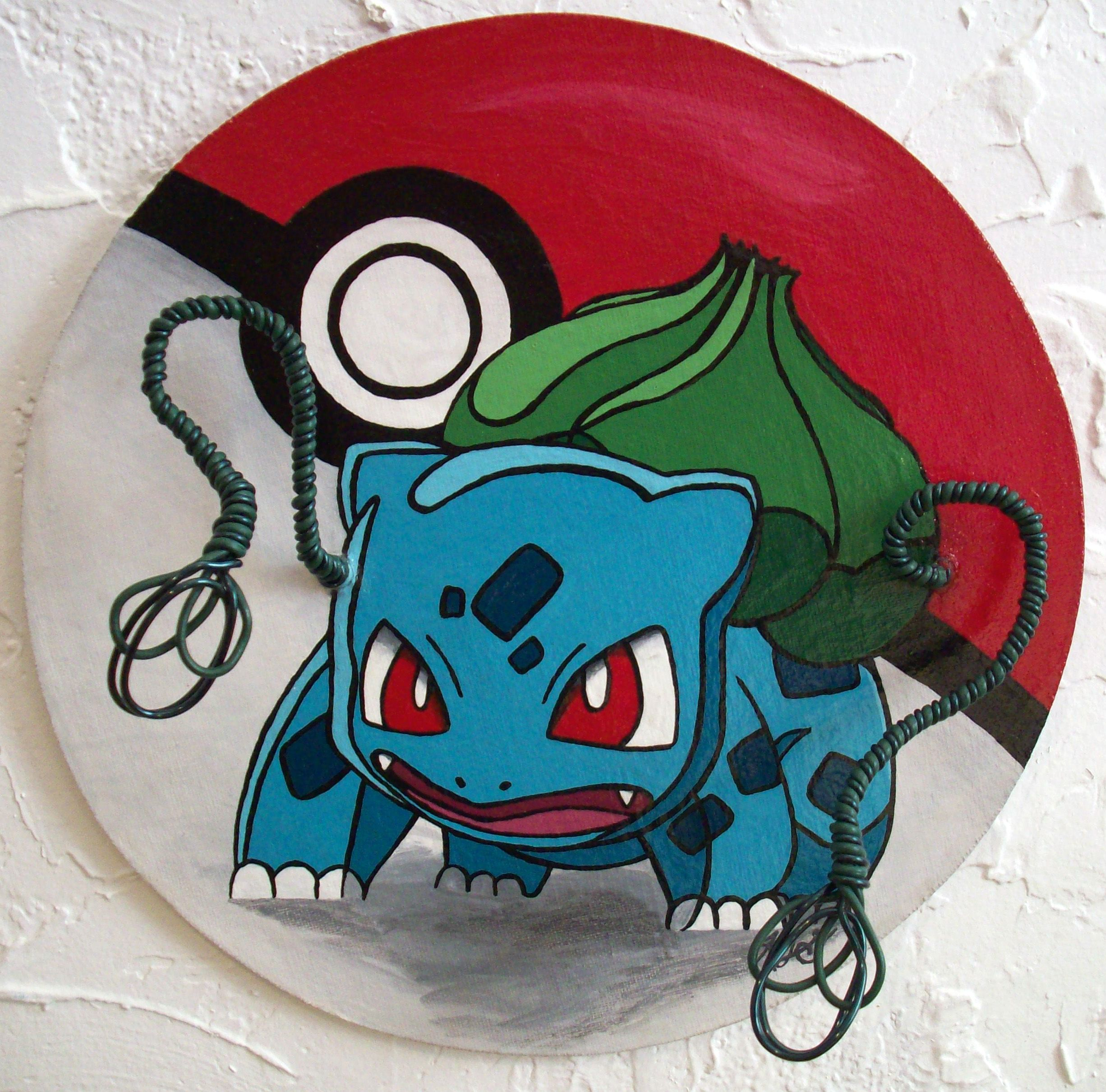 Bulbasaur I choose you - Pokémon Balbasaur featuring 3D wire vine ...