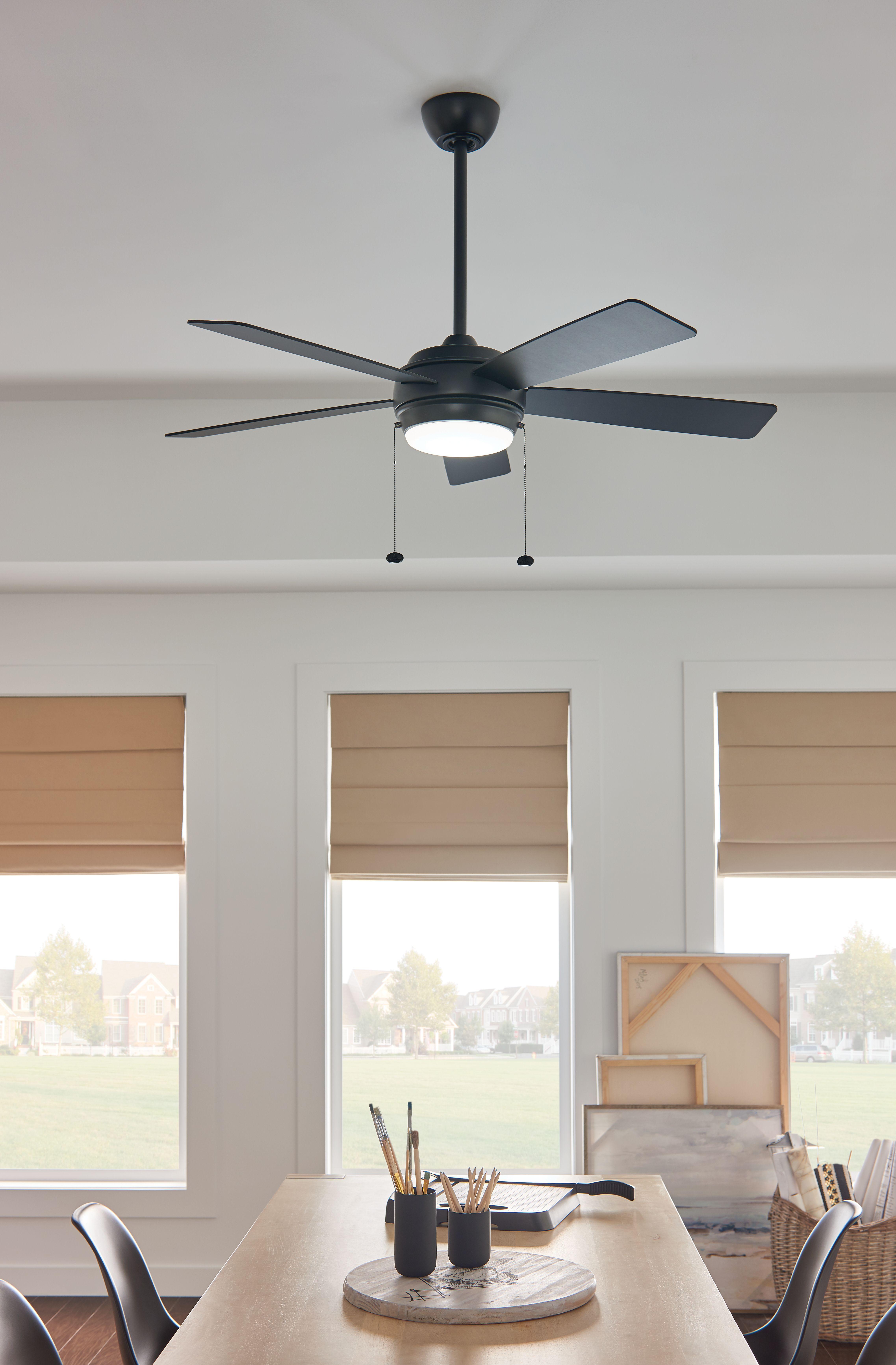 Matte Black Ceiling Fan Ceiling Fan Black Ceiling Fan Indoor