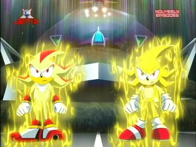 sonic and shadow are super in sonicx
