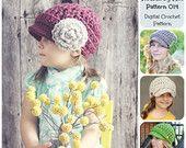 Crochet Pattern, Hat Pattern, Ribbed Newsboy Hat Pattern 014