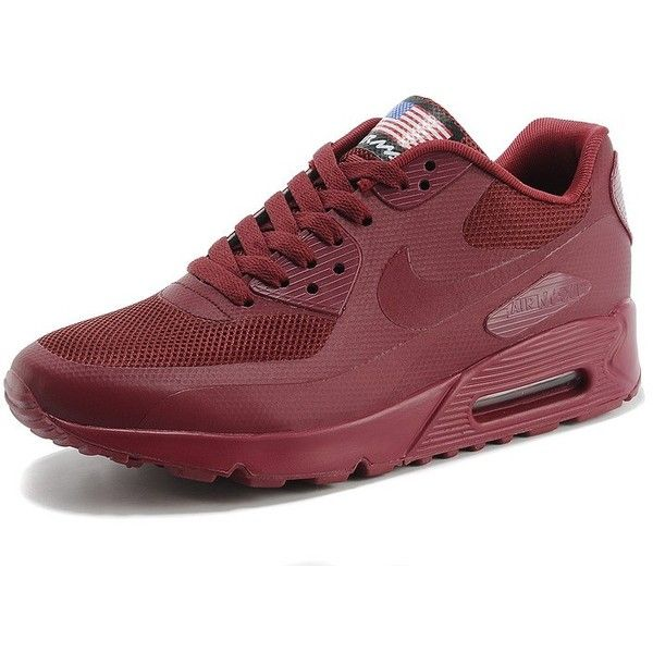 e4d4f40de74 Cc223 Nike Air Max 90 Hyperfuse QS  Independence Day  Burgundy... via  Polyvore