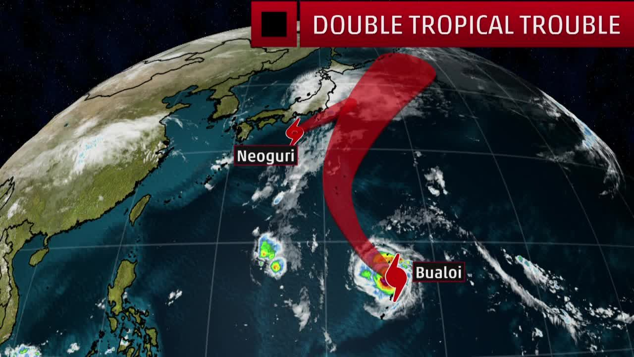 A Pair Of Tropical Systems Are Churning In The Western Pacific Tropical Pacific The Weather Channel