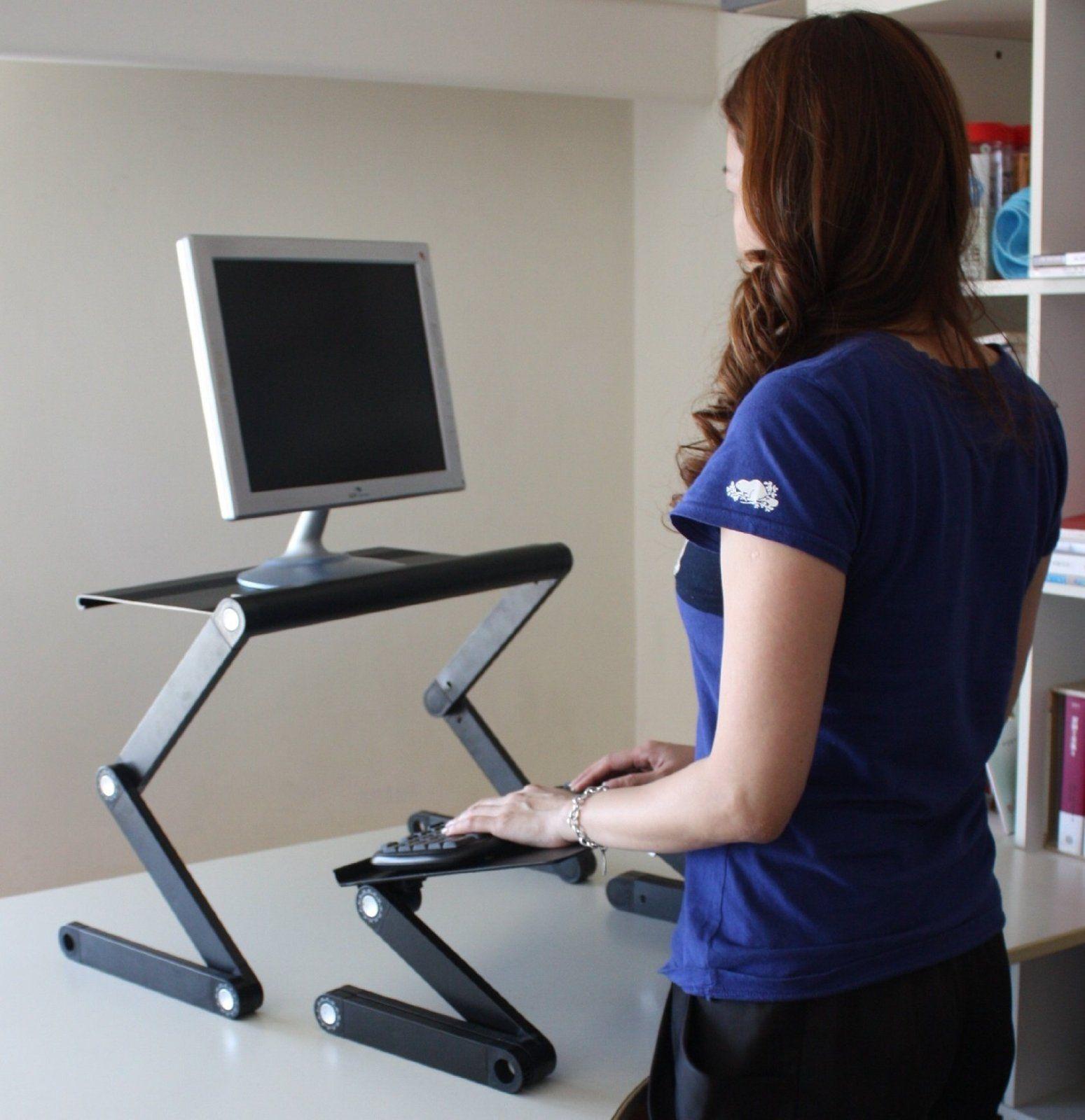 Workez Standing Desk Adjustable Sit Stand Desk For Laptops