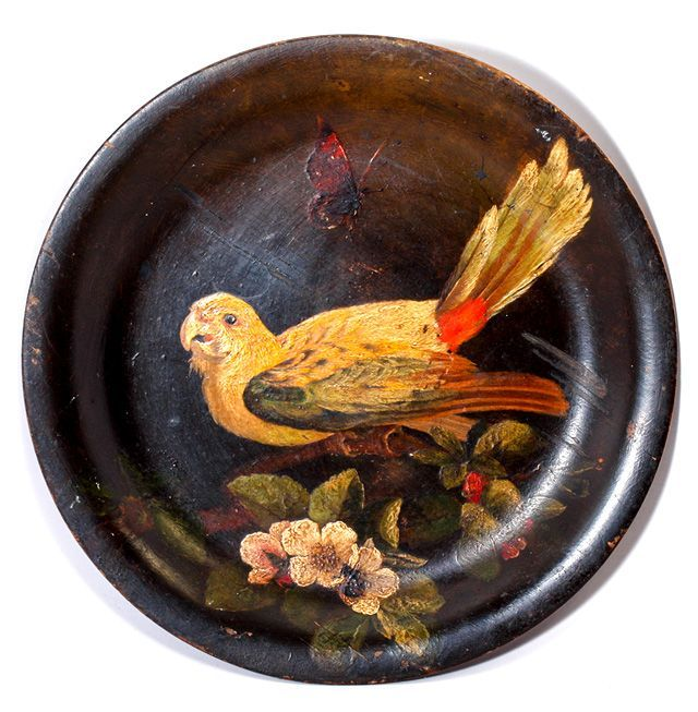 Antique Hand Painted Plate of Wood Victorian Beauty of Bird Butterfly - Signed by  sc 1 st  Pinterest & Antique Hand Painted Plate of Wood Victorian Beauty of Bird ...