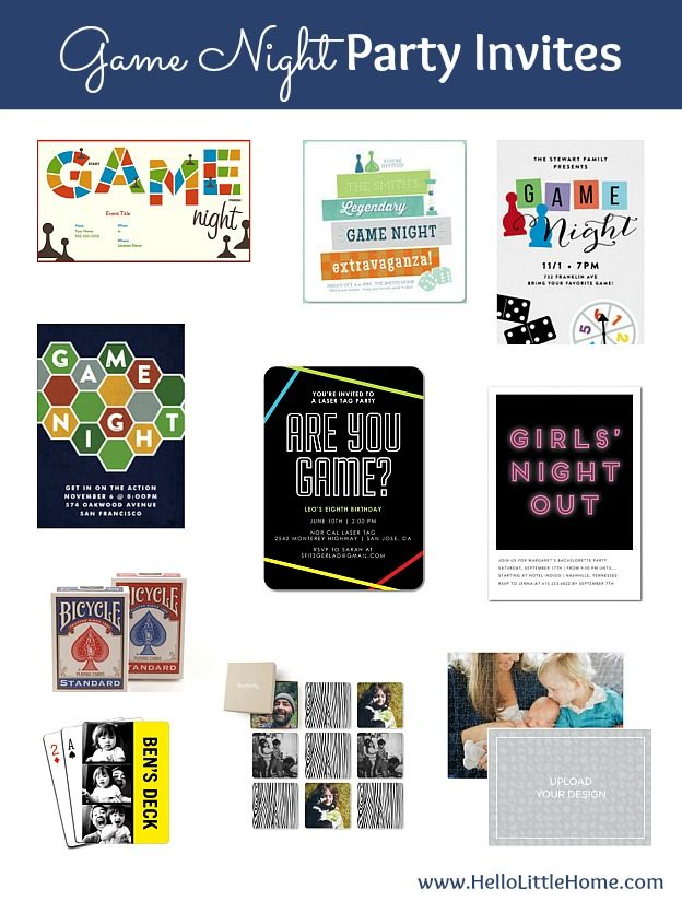 How to host a Game Night Party ... invitation ideas!   Hello Little Home