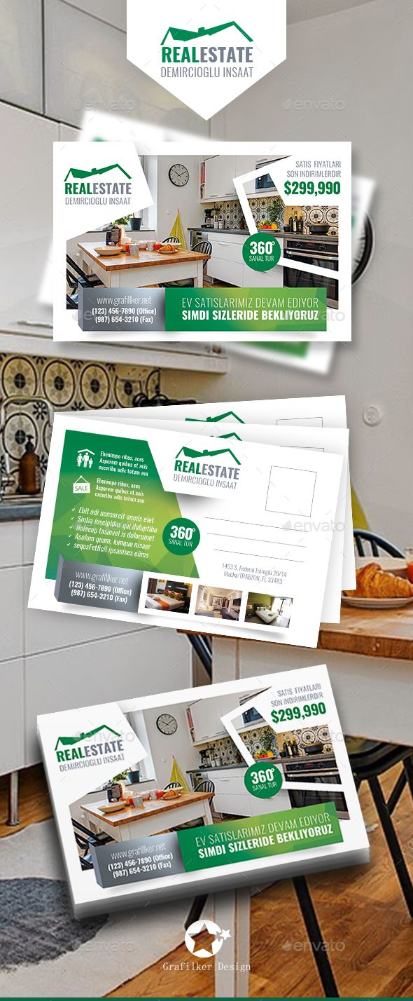Real Estate Postcard Templates | Pinterest