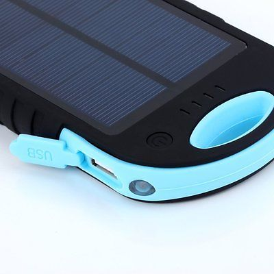 12000mAh Waterproof Solar Panel Power Bank External Battery Dual-USB Charger New
