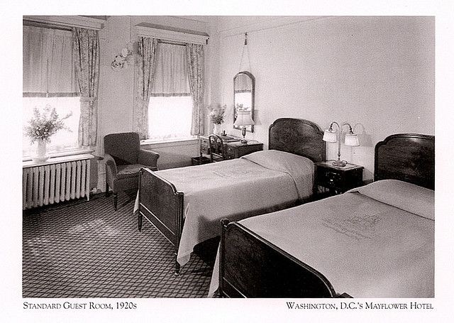 Mayflower hotel standard guest room 1920s room home for 1920s hotel decor
