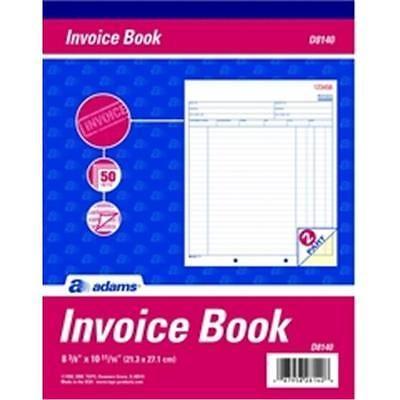 Adams d8140 #invoice book, 2-part #carbonless, 50 st per bk, View - book invoice