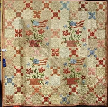 Old Glory Quilt- I believe this is designed by BlackBird Designs ... : old glory quilt - Adamdwight.com