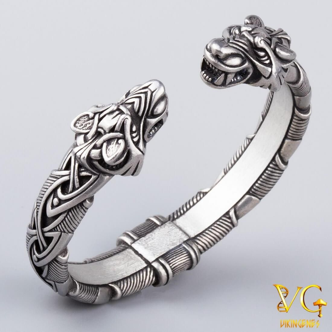 Norse Metal Arm Ring With Wolf Heads Vikingenes This Wolf