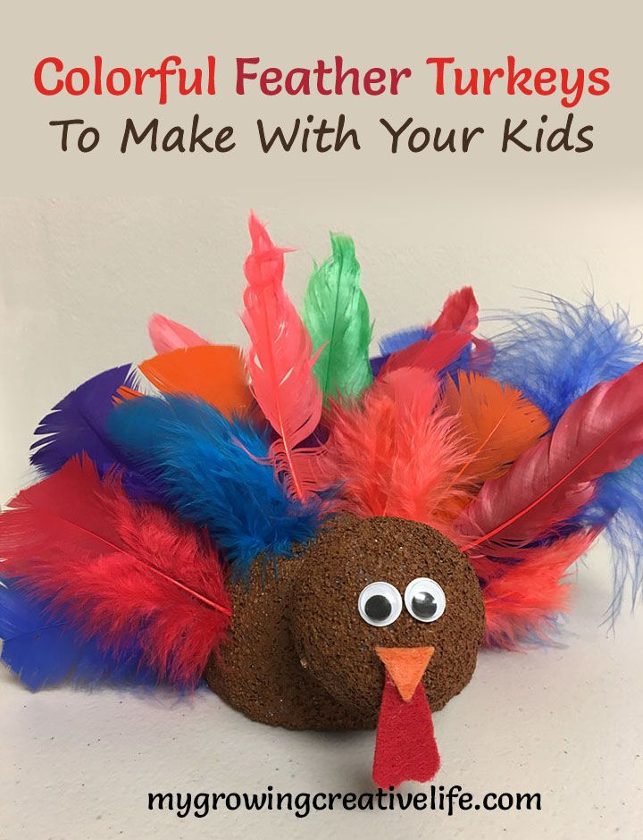 Colorful Feather Turkey Craft to Make With Your Kids - My Growing Creative Life