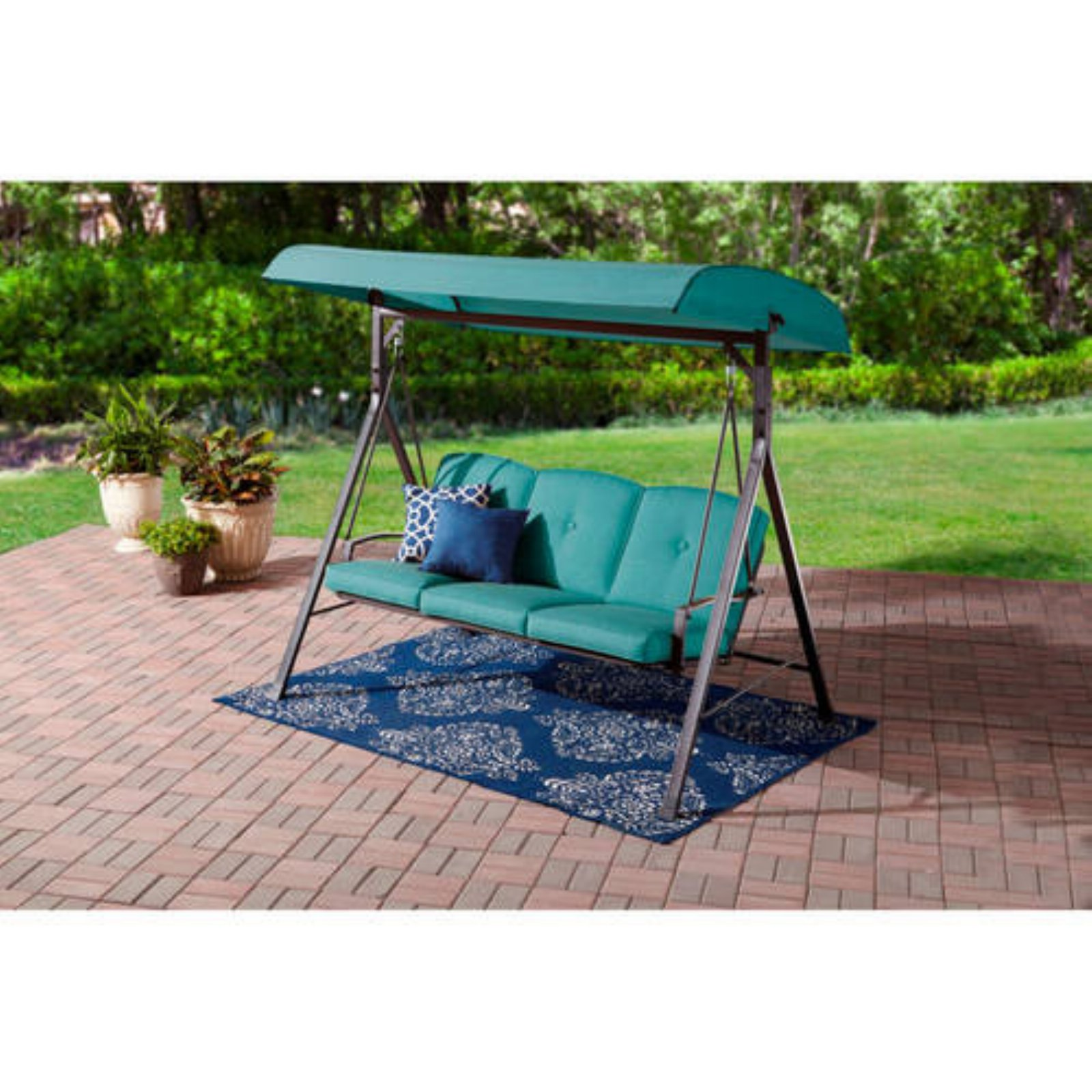Mainstays Forest Hills 3 Person Porch Swing Frame Set With Canopy
