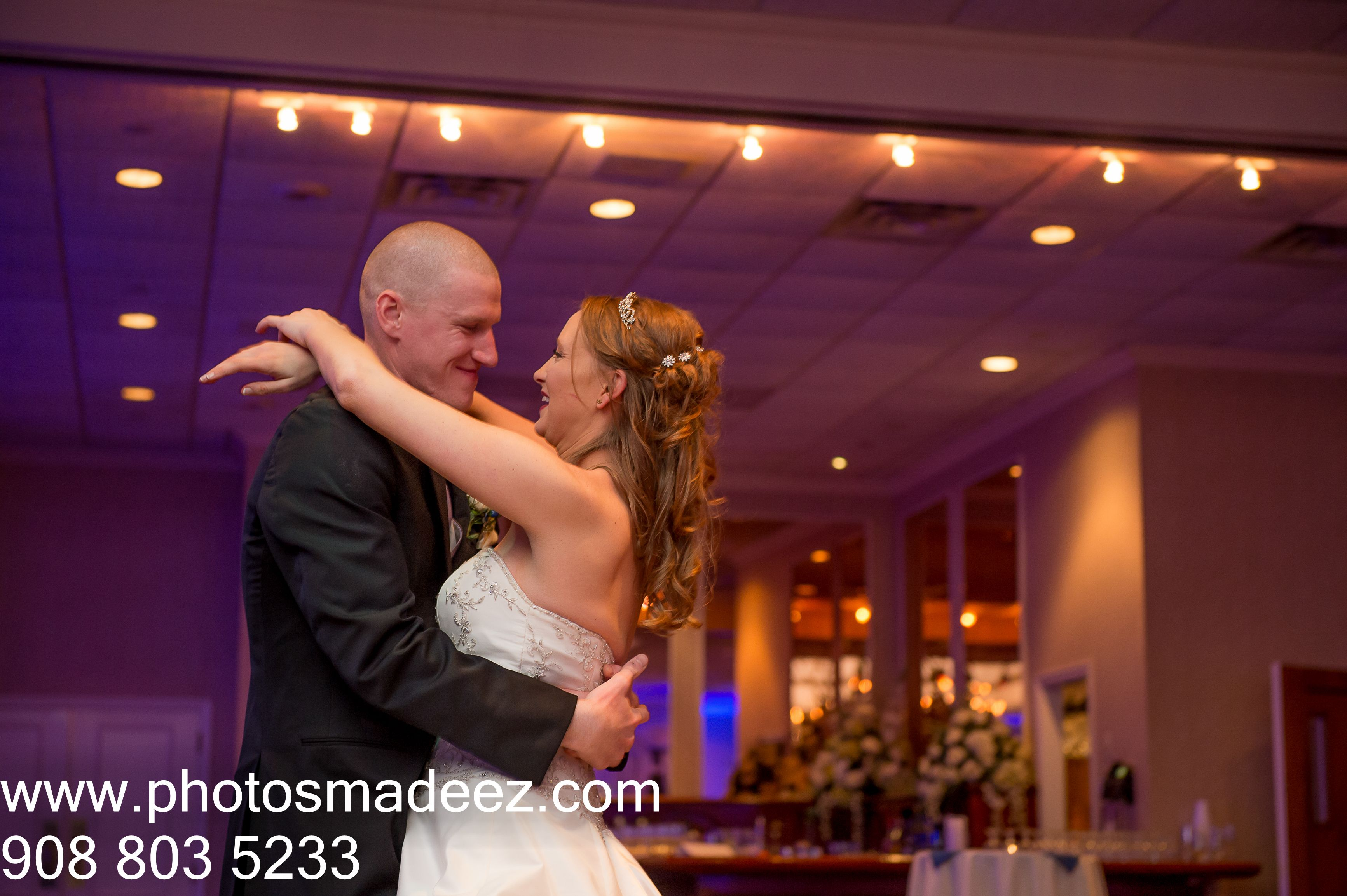 Bride and groom at their first dance at twin brooks country club