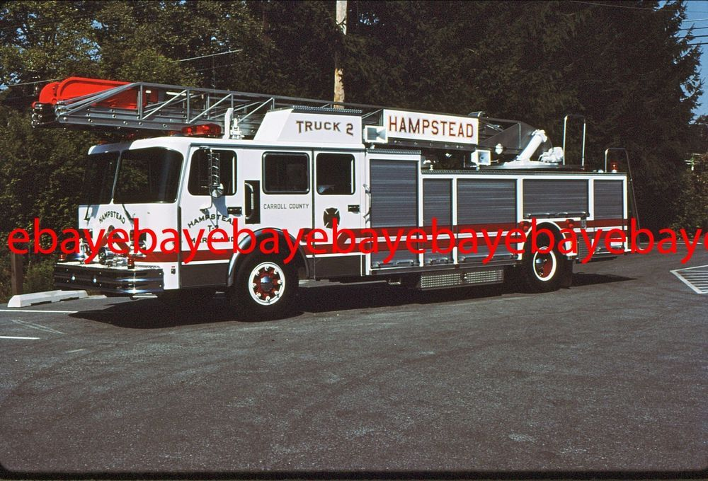 Fire Apparatus Slide, Seagrave ladder, Hampstead / MD, ex
