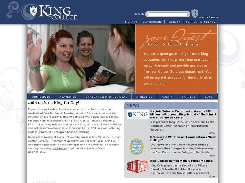 King college kings college kings education tennessee