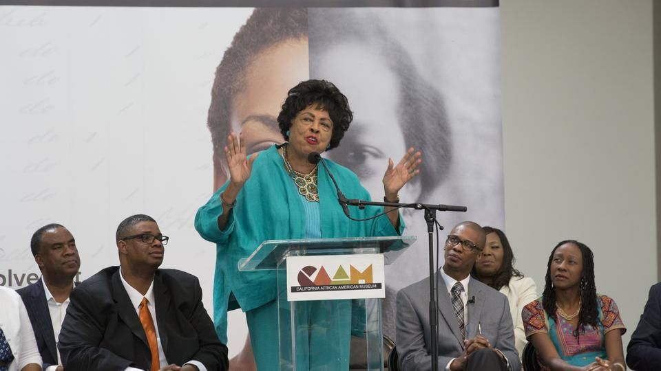 Freedmen's Bureau Project press conference held in Los Angeles, CA on June 19, 2015  in honor of Juneteenth - national celebration of the emancipation of all enslaved persons living in the USA.