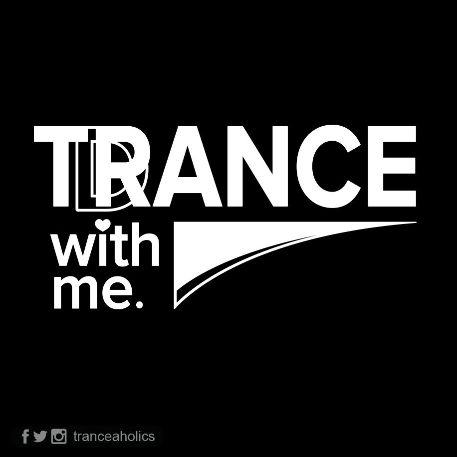 Trance With Me - White on Black / Tranceaholics