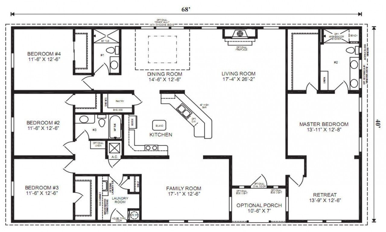 Favorite Modular home floor plans, Ranch house floor