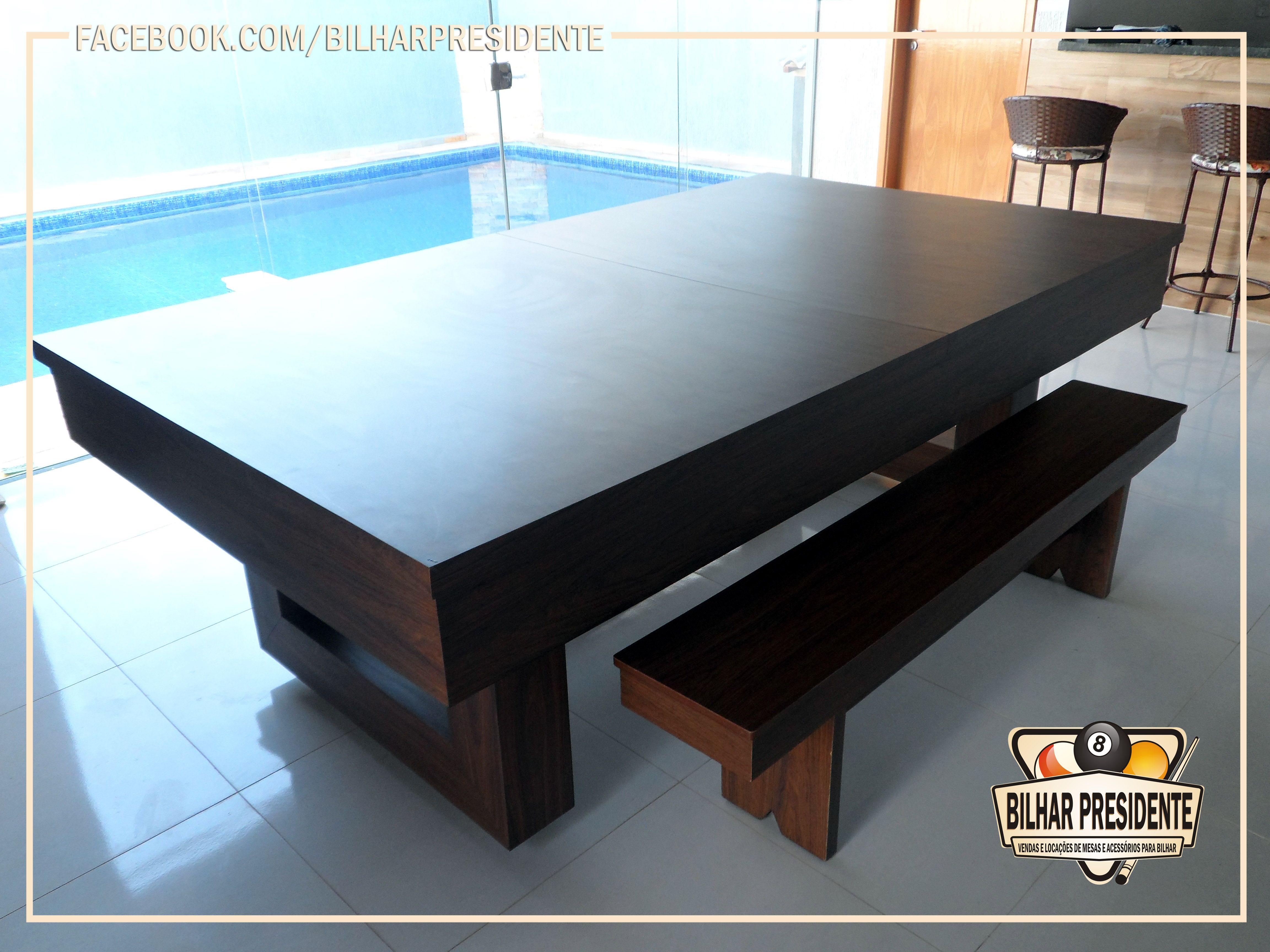 5c5b36805 Quando fechada com o tampo é uma belíssima mesa de jantar  sem ele é uma  mesa de sinuca de alto padrão. Tudo isso enriquecendo o espaço e deixando-o  ainda ...