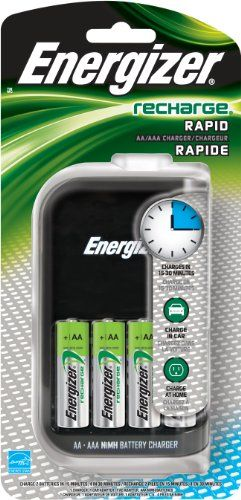 Energizer Compact Charger Recharges Aa And Aaa Build Better Bridges Rapid Charger Nimh Battery Charger Charger