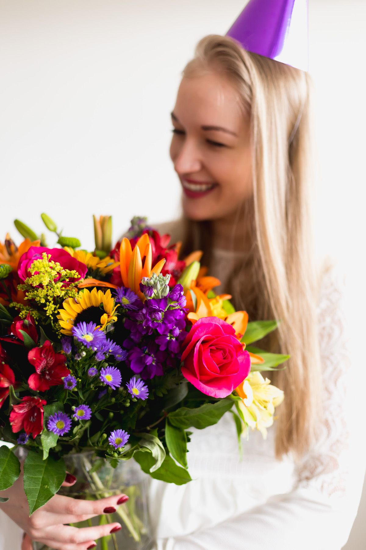 Birthday Parties Get Togethers Or Just Because Our Floral Embrace Flower Arrangement Is The Perfect Fun To Party Going