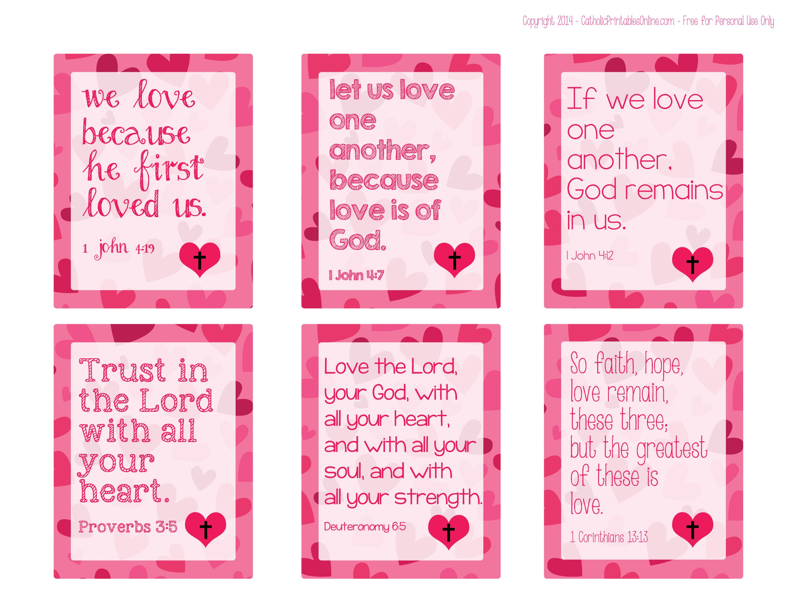 Printable Religious Valentine Cards for Kids Cards Sunday