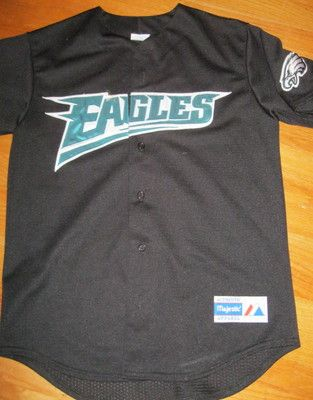 Philadelphia Eagles vintage baseball jersey Majestic medium RARE sewn  517552ff7