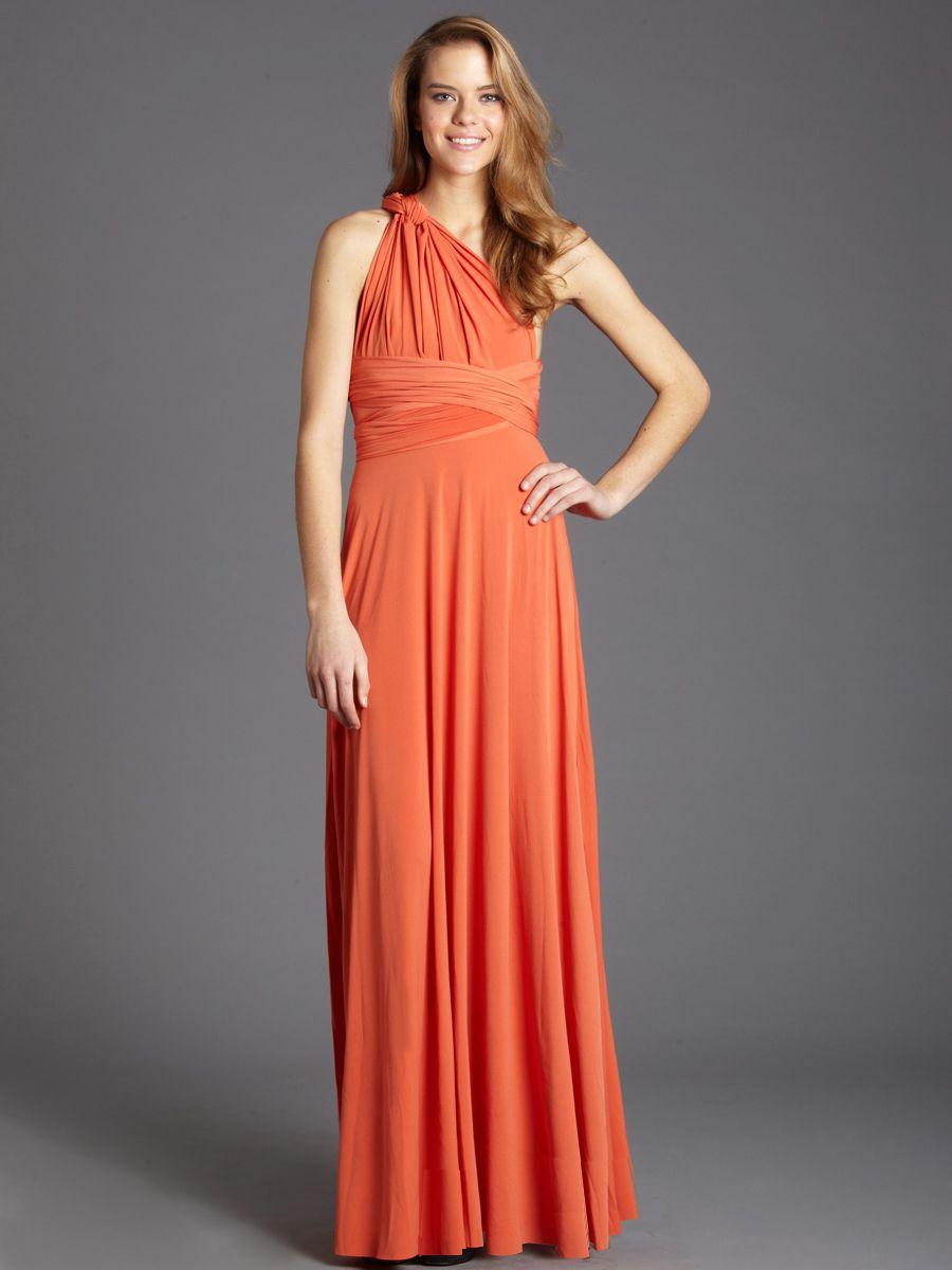 Amazing von vonni long transformer dress in orange bold fall amazing von vonni long transformer dress in orange bold fall color iwrappeditmyway ombrellifo Choice Image