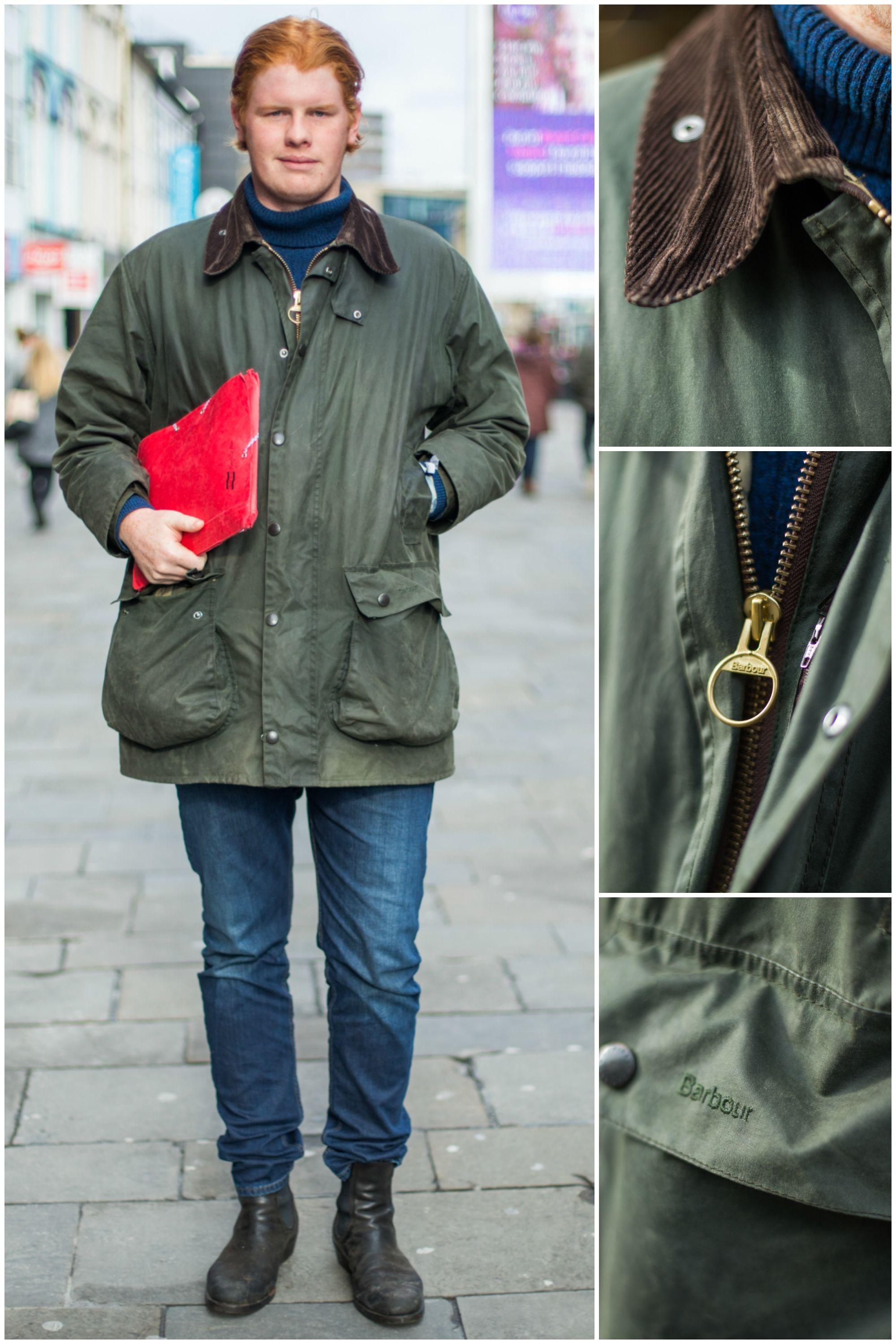 a4bfb79f3 We spotted Tom wearing his vintage Barbour Wax Jacket - which he inherited  from his Great Grandfather!