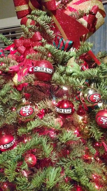 This Is True Love I Made My Mr A 49ers Christmas Tree D Christmas Tress Christmas Wreaths Christmas Tree