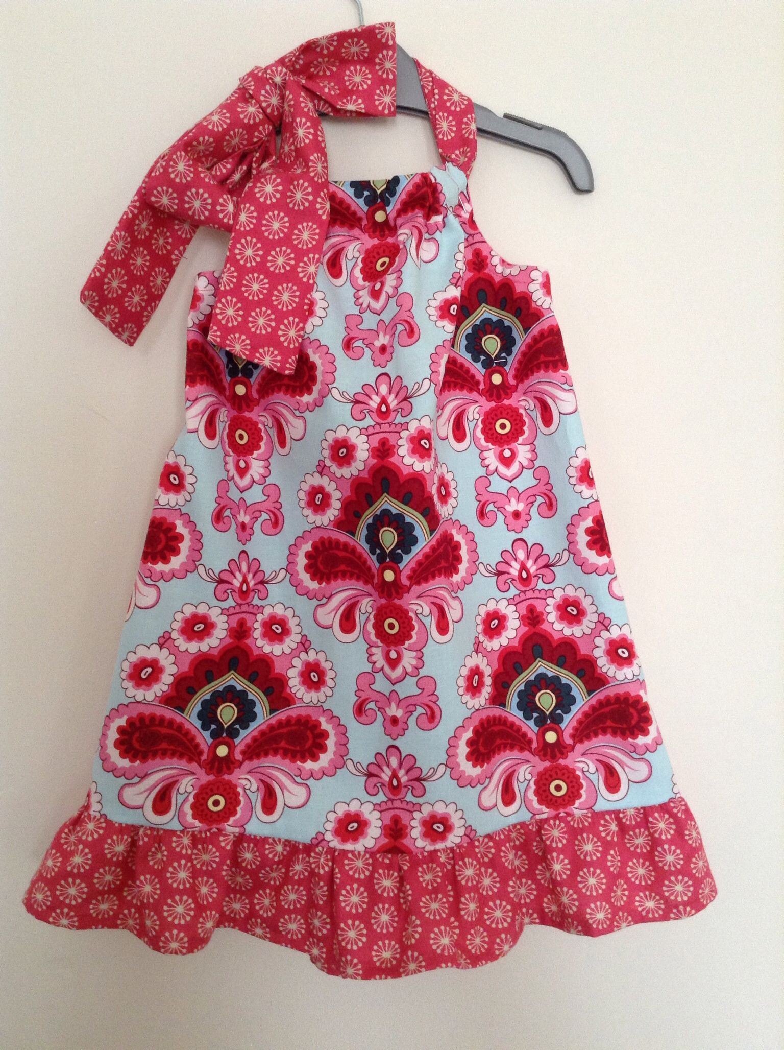 Toddler girls dress made from Amy butler fabric. | Sewing | Pinterest