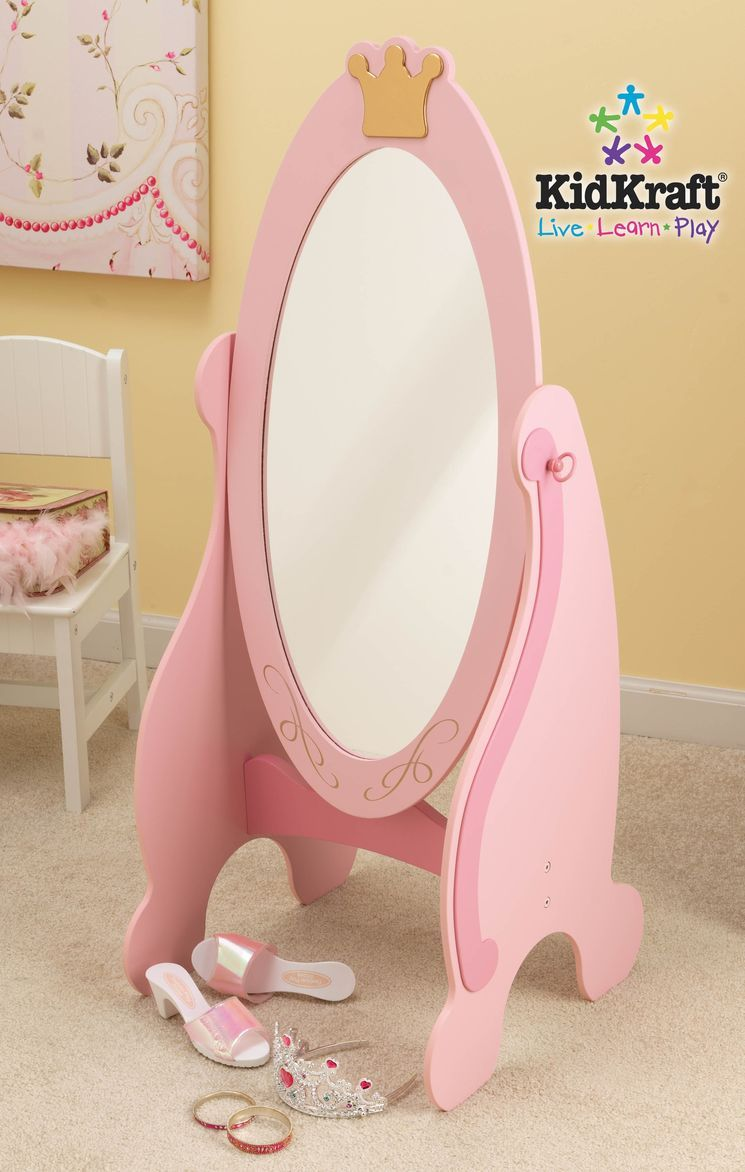 Princess Cheval Mirror in Pink