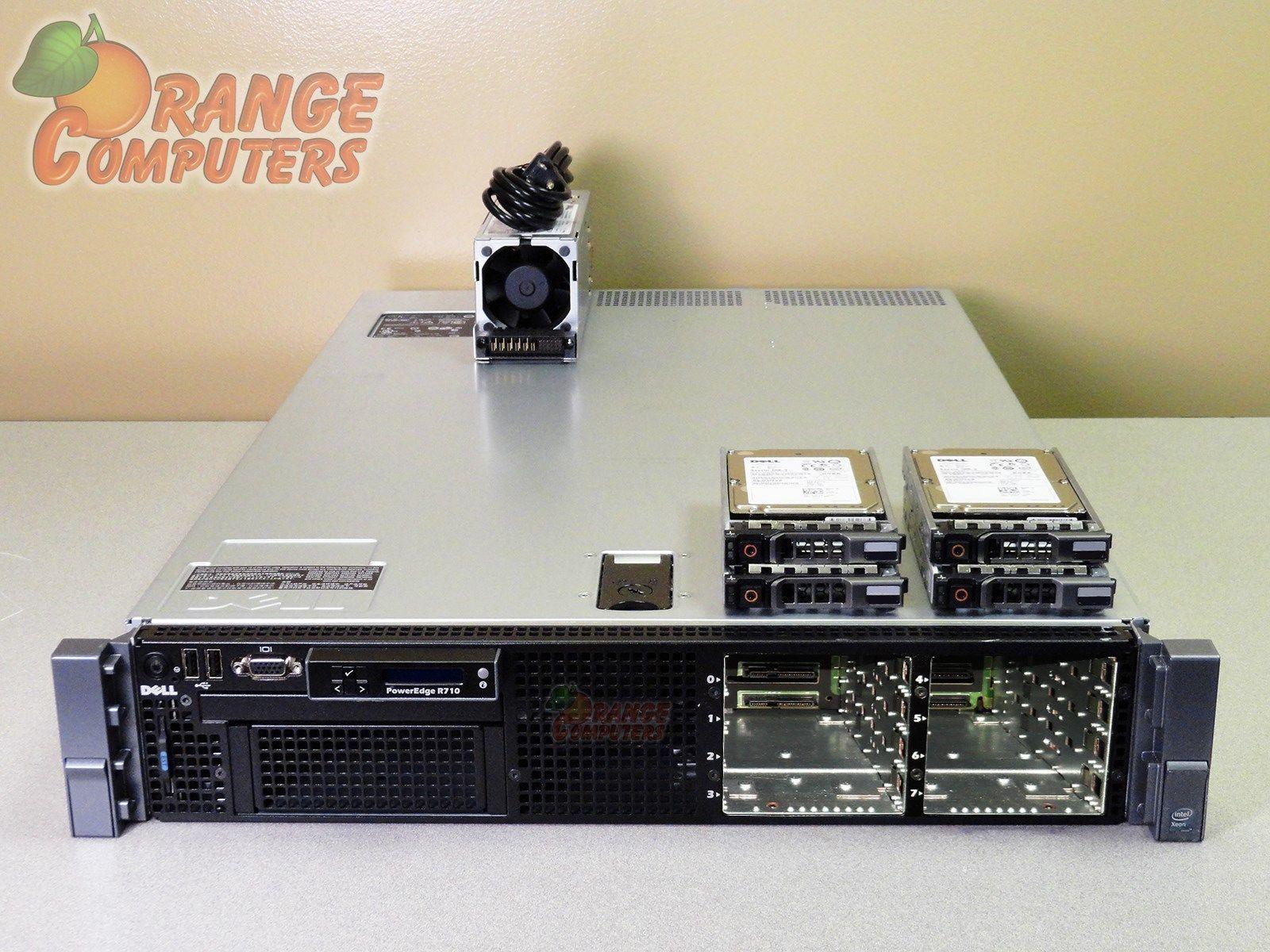 Dell PowerEdge R610 Server 2x 2.4 GHz Quad Core RPS 6x 146GB 15k PERC6 32GB