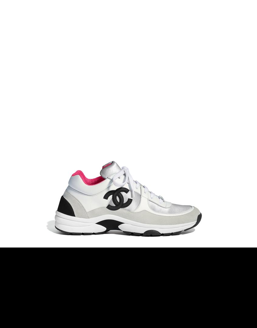 \u0026 navy blue | Chanel sneakers, Sneakers