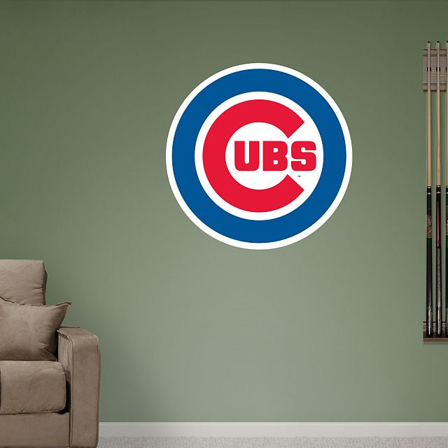 45d4631b169 Chicago Cubs  Logo - Giant Officially Licensed MLB Removable Wall ...