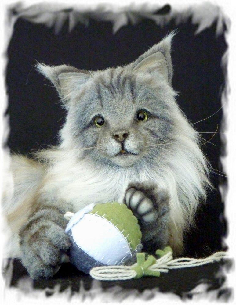 12' OOAK realistic Maine coon cat by Francesca Boretti **KALEideaSCOPE**