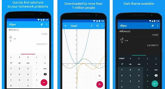 تحميل تطبيق الآلة الحاسبة العلمية المتعددة المزايا Graphing Calculator Algeo Free Plotting Pro النسخة المدفوعة 2020 Graphing Calculator App Calculator