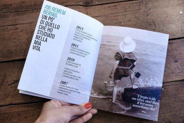 Resume Book by Paula Del Mas, via Behance Personal Branding - resume book