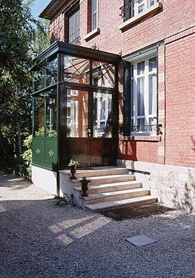 sas d 39 entr e couloir escalier pinterest entr e sas entree et veranda. Black Bedroom Furniture Sets. Home Design Ideas