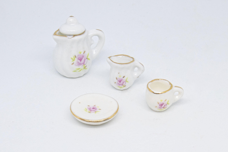 Dollhouse Miniatures 1/12 Scale Porcelain Tea Set