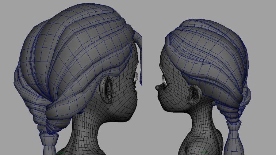 Polygonal Hair Maya Art Maya Modeling 3d Character