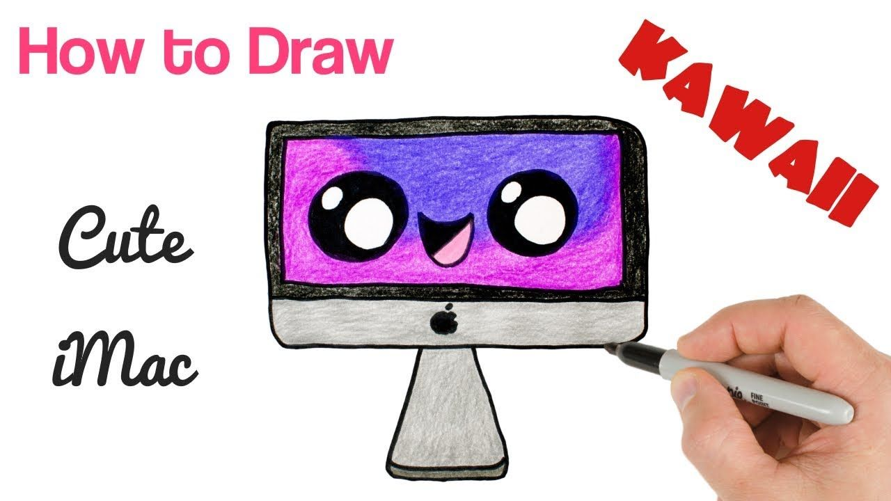 How To Draw A Cute Stuff Easy Imac Drawing Drawings Kawaii Drawings Cute Drawings
