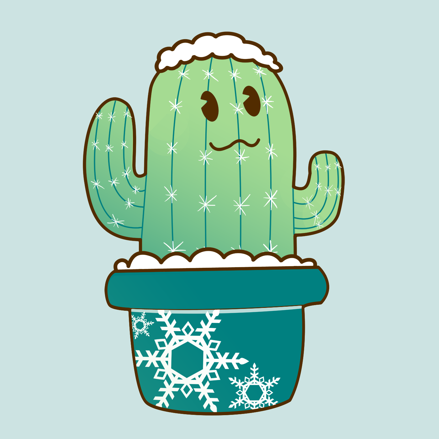 Cute Snow Holiday Christmas Cactus Relaxed Fit T Shirt By Artrus Snow Holidays Christmas Cactus Cactus